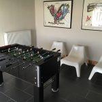 voetbaltafel in relaxruimte ChaletDurbuyXL